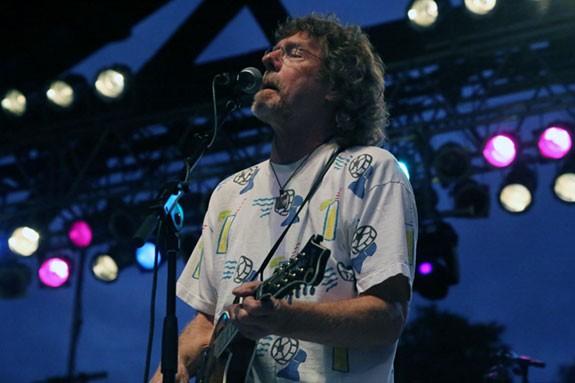 Sam Bush brings out the Bluegrass faithful on the FloydFest main stage Thursday night.