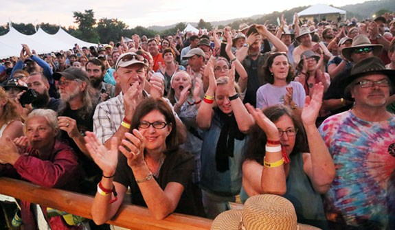 Part of the enthusiastic crowd for Sam Bush
