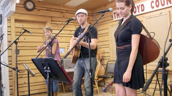 Luke, Abby & Laurel at Americana Afternoon at the Floyd Country Store.