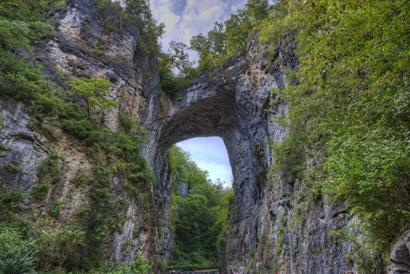 Natural Bridge in Rockbridge County, Virginia.