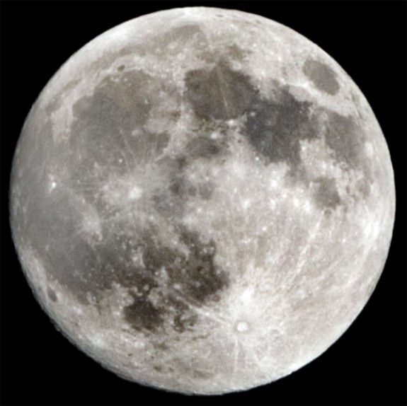 The full moon over Floyd County, Southwestern Virginia and the nation Wednesday night.