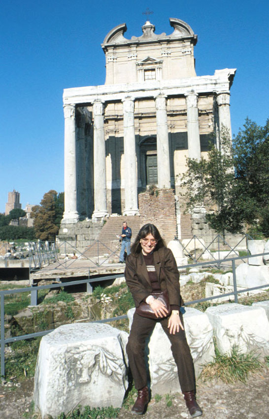 Amy in Rome in 1987.