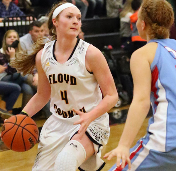 Ragan Wiseman of the Lady Buffaloes in an earlier win this season against Giles.