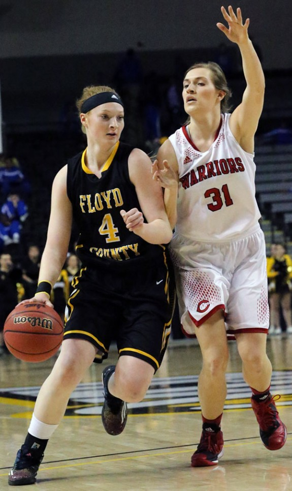 Lady Buffaloes leading scorer Ragan Wiseman at the State Championship game in 2015.
