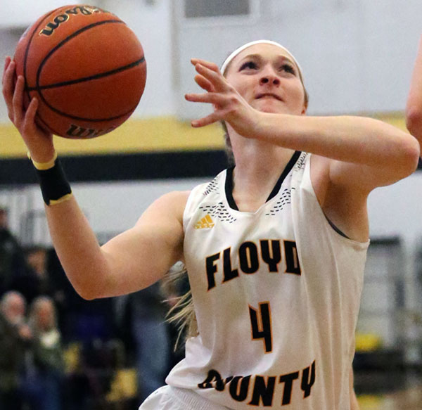 Floyd County Lady Buffaloes' leading scorer Ragan Wiseman: Recovering from an ankle sprain.
