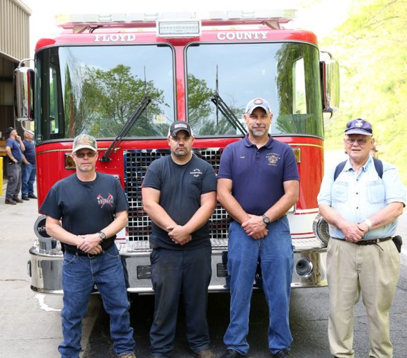 Station 3 Fire Department members who worked on specs for the new truck.