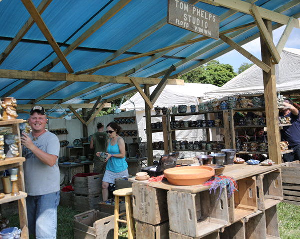 We lost Tom Phelps as a popular local artist but his work and and his studio survives at FloydFest.