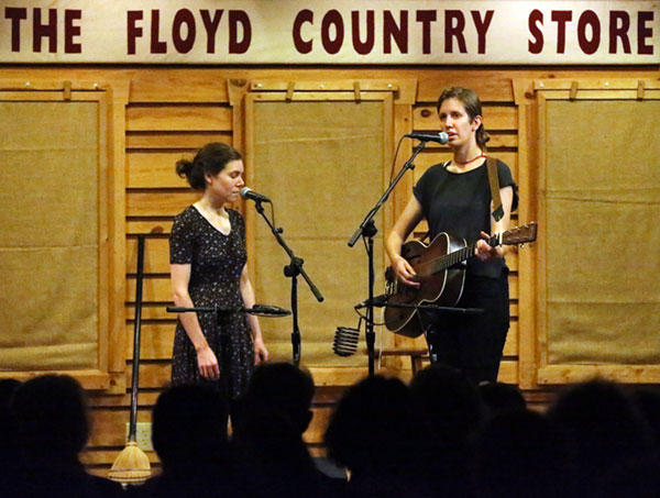 Elizabeth LaPrelle (left) and Anna Roberts-Gevalt returned to The Floyd Country Store stage Thursday night.
