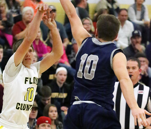 Dustin Thompson led scoring with nine points and the only three pointer for the night for Floyd.