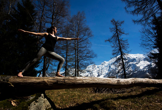 warrior mont blanc chamonix yoga retreat