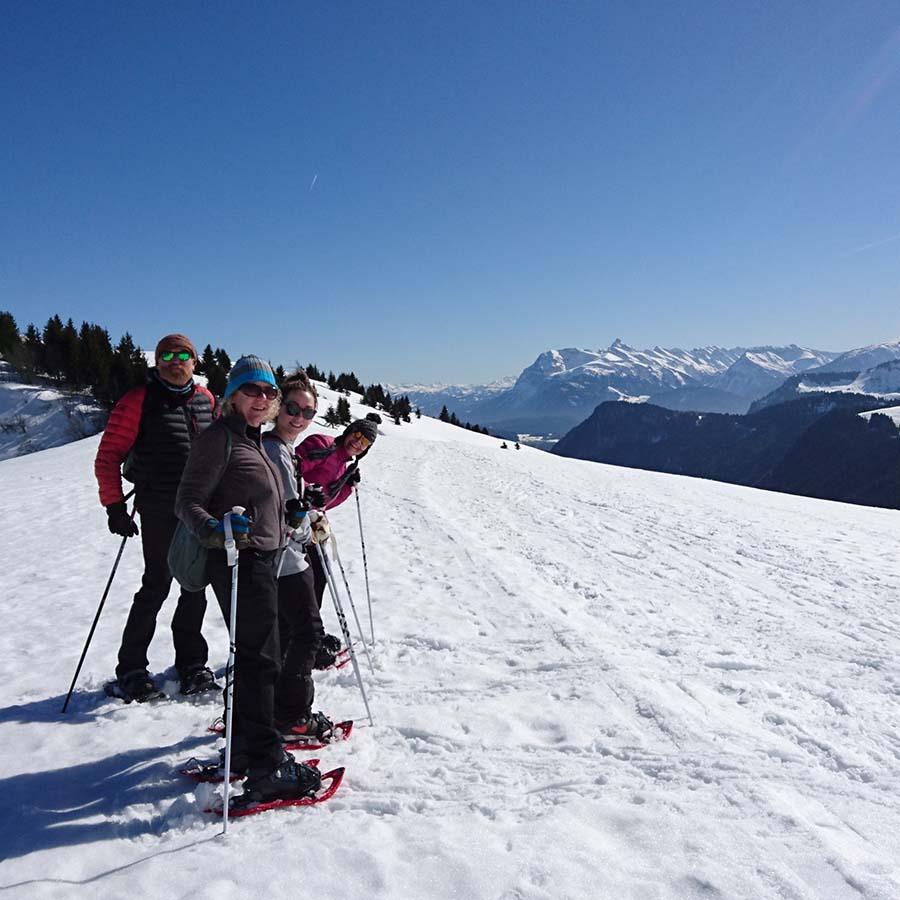 Yoga snowshoeing hiking retreat spring autumn chamonix mont blanc relaxation