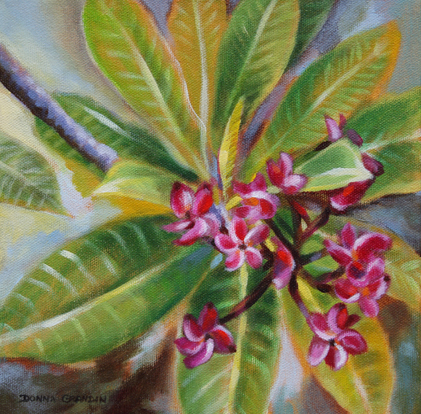 painting of frangipani flowers