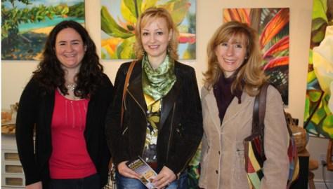 Me with Angela Paparizo (City of Burlington, Arts & Culture) and Rosanna Dewey (Burlington Fine Arts Association)
