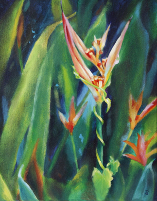 "It's a jungle out there, 14""x11"", acrylic on canvas, © 2014 Donna Grandin. $250.00"