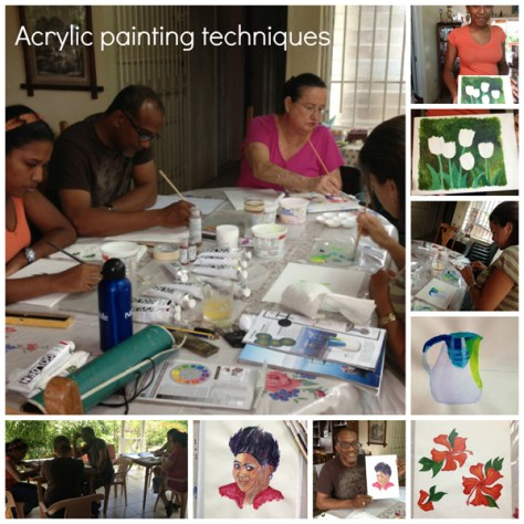 Art Classes in St. Lucia with Donna Grandin