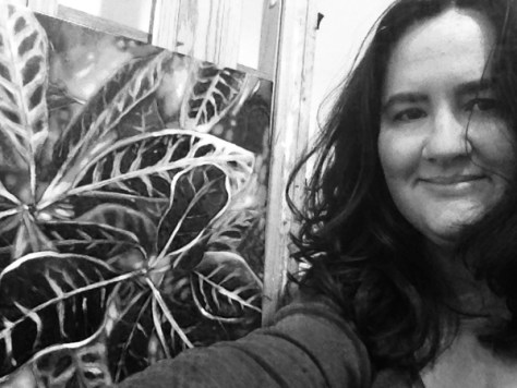 "Selfie with my painting ""Crotoplosion"""