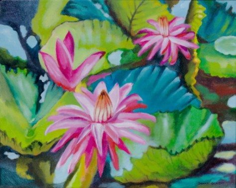 water lilies & lily pads