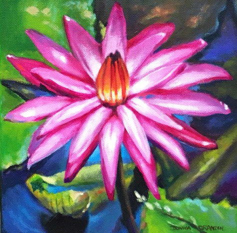 hang original art water lily