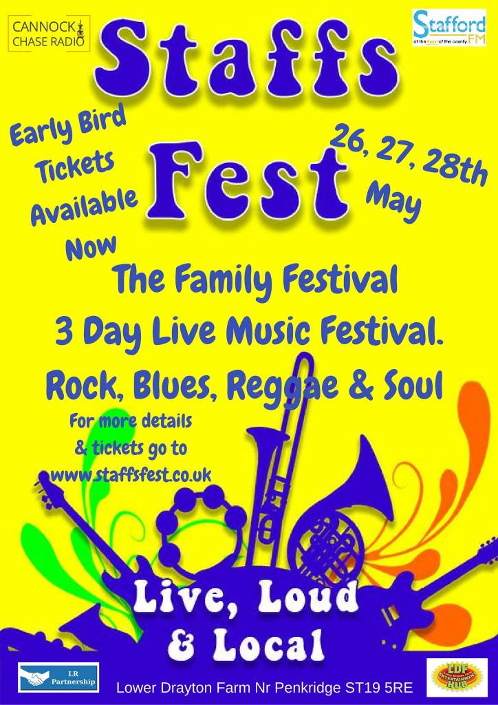 Staffs Festival The Family Festival Music Fun For May Bank Holiday Weekend