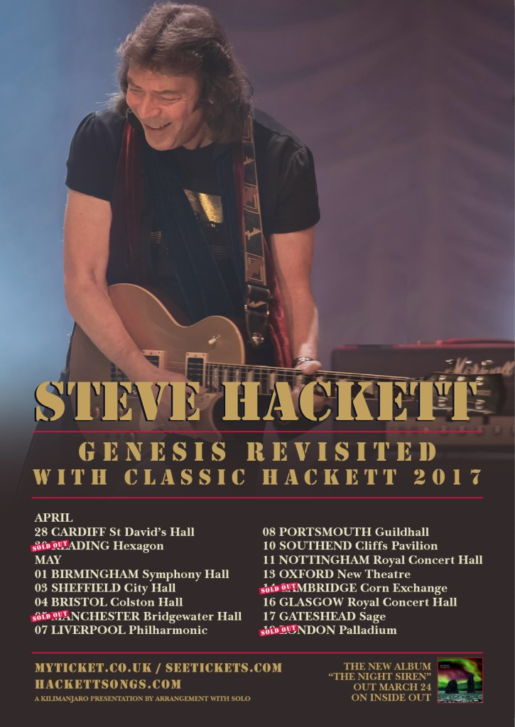 2017 Genesis Revisited with Classic Hackett Tour