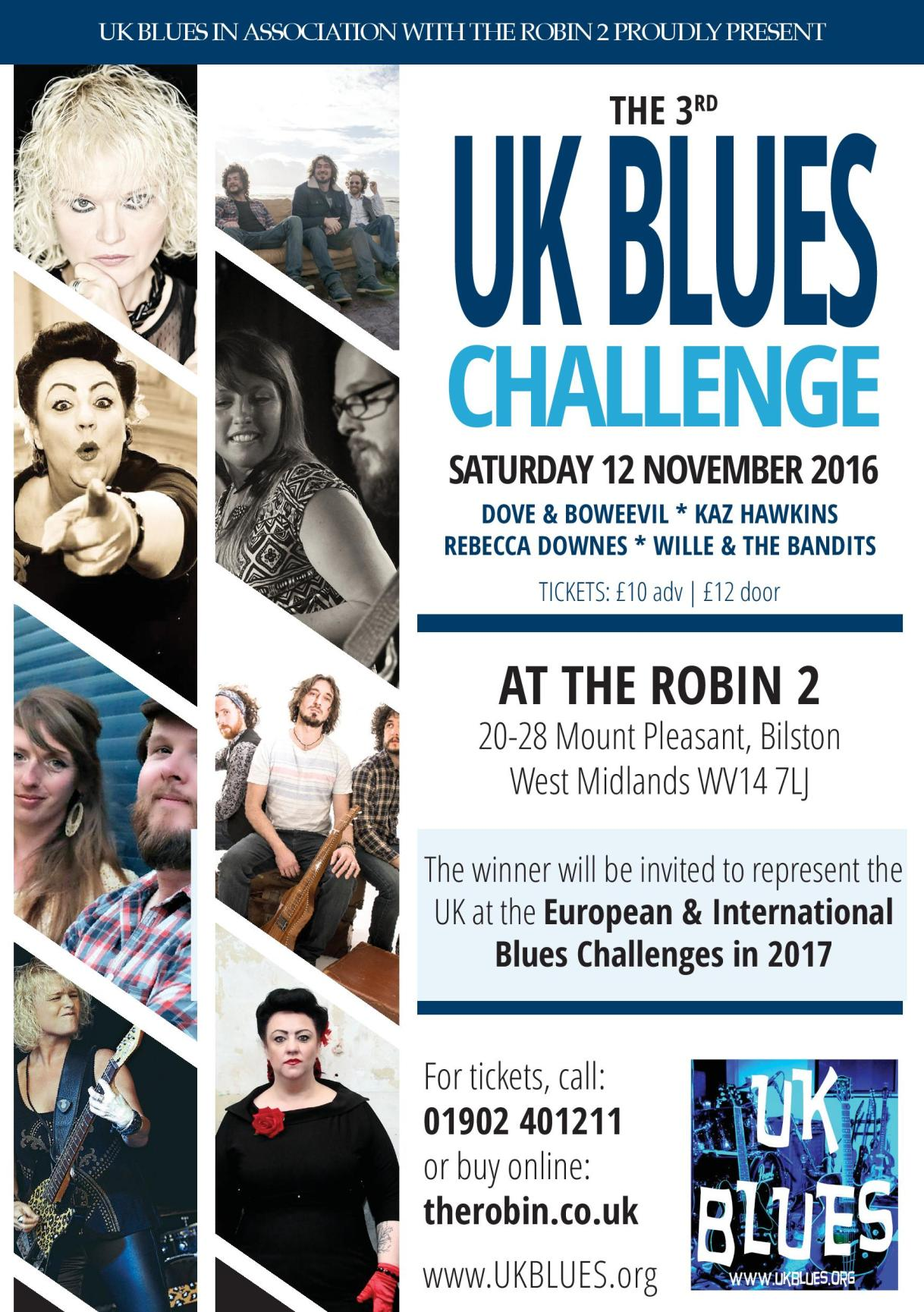 UK BLUES CHALLENGE 2016 at The Robin 2 Bilston