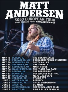 Matt Andersen Touring May 2017