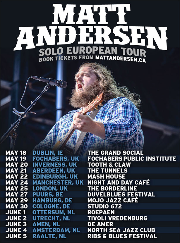 Matt Andersen Touring Summer 2017