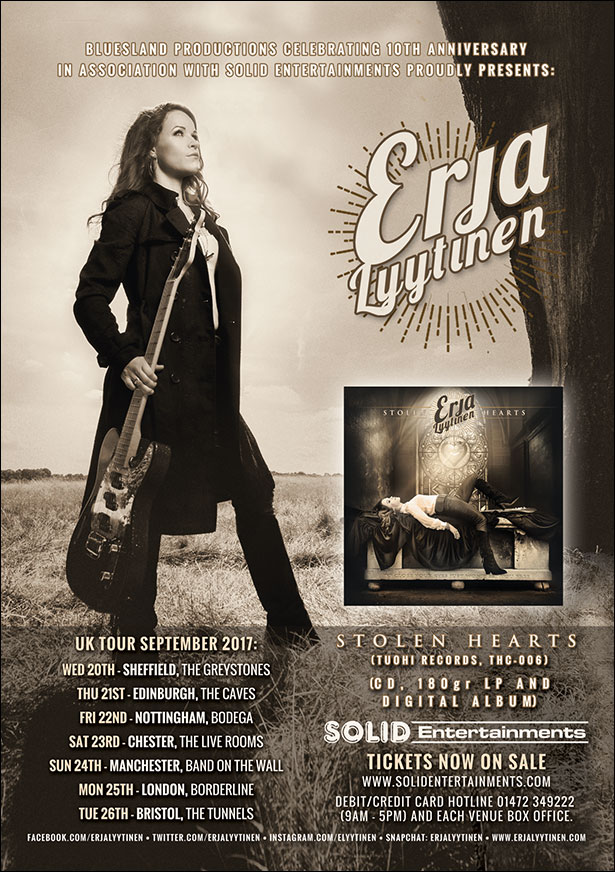 SQ&A with Erja Lytinnen Stolen Hearts Guitars and Touring