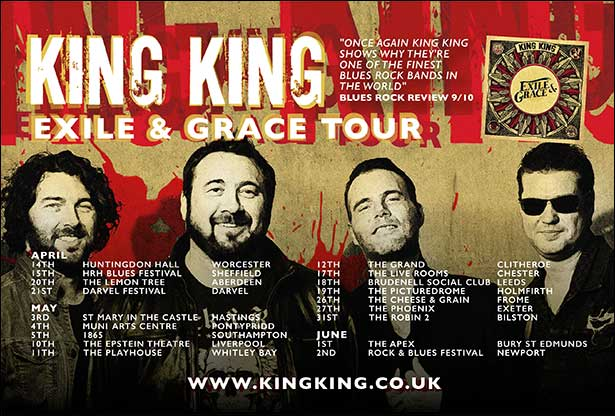 Never In Exile Full Of Grace King King Back Touring