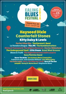 Ealing Blues 2018 Saturday 21st - Sunday 22nd July Announced