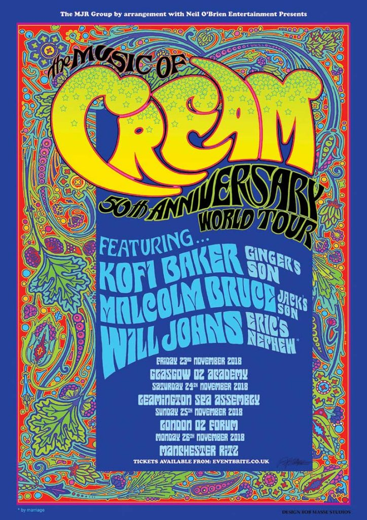 50th Anniversary Tour The Music of Cream