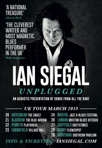 IAN SIEGAL UK SOLO TOUR – MARCH 2019