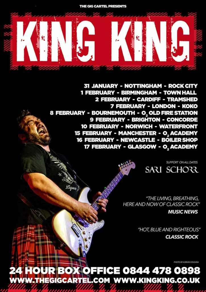 KING KING Bass Player Lindsay Coulson  Announcement