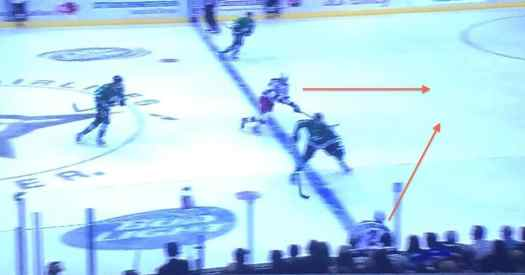 Blurry, but you can see the open ice.