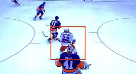 How to screen a goalie.