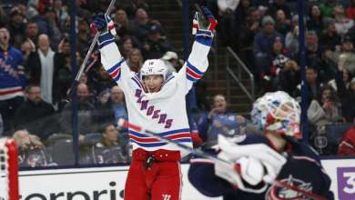 Photo of Rangers keeping things interesting with big win over Columbus