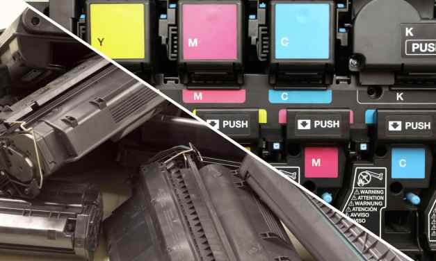 What's the distinction between ink and toner cartridges?