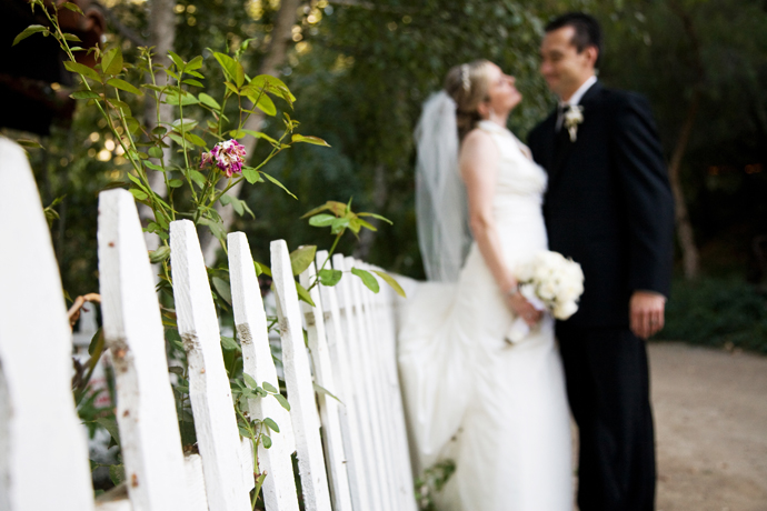 Bride and Groom at Rancho Las Lomas