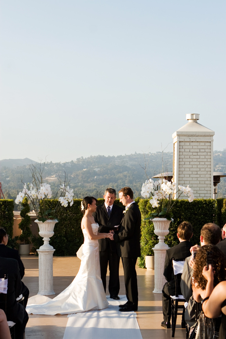 Rooftop Wedding at the Beverly Wilshire Hotel