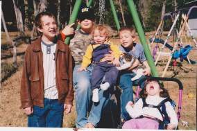 The whole gang years ago