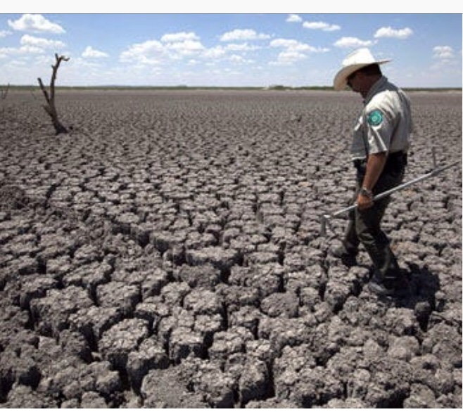 dried up lake bed in Texas