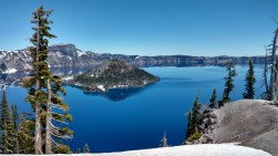 Crater Lake is over 1,000 feet deep and so clear that you can see the reflection all the way around. It's a little over an hour from my house, so this makes for a fun afternoon trip.