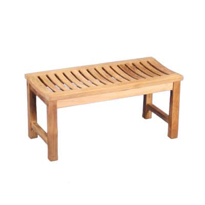 "36"" Outdoor Teak Backless Bench"
