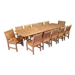 Outdoor Teak Dining table with 12 chairs