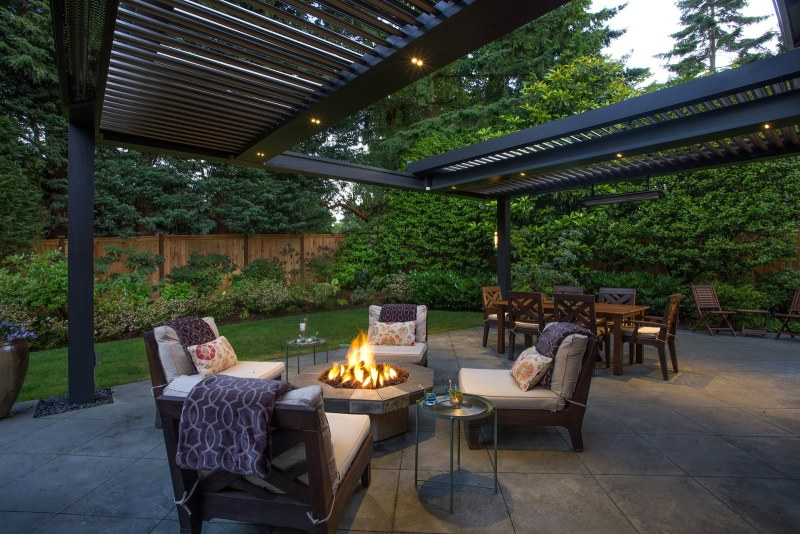Struxure Pergola, Residential Grade - Night Patio