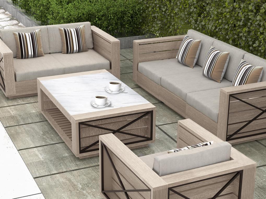Altarra Couch Set, Modern Outdoor Furniture