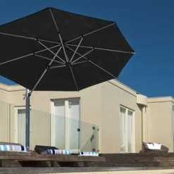Aurora Square Cantilever Umbrella, Commercial - Black