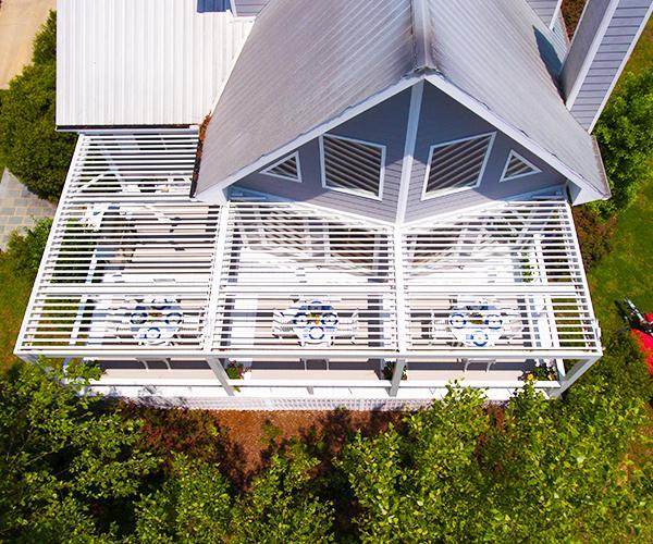 Struxure Pergola Over Deck, Residential Grade - Aerial View