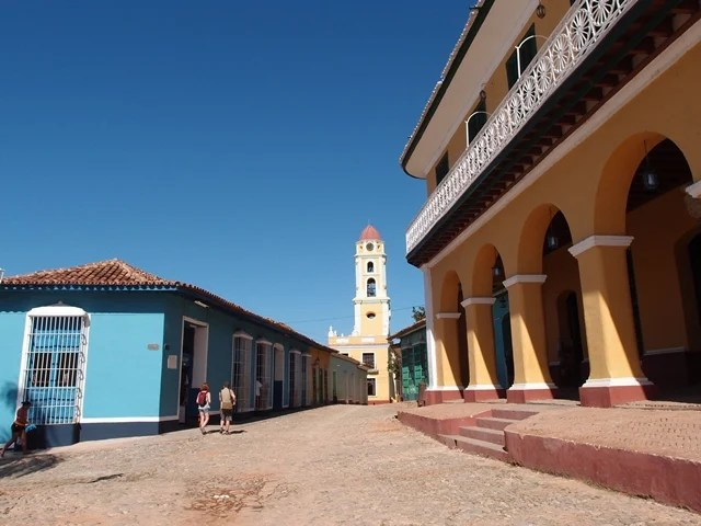 Trinidad, Cuba, Blue Sky and Wine