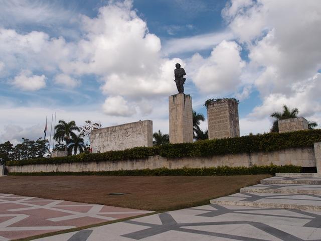 Che Guevara memorial in Santa Clara, Cuba, Blue Sky and Wine